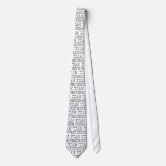 Team Groom Western Grey Neck Tie
