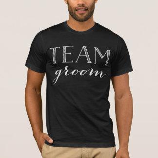Team Groom White Script Shirt