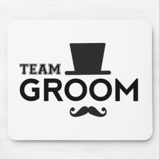 Team Groom with hat and mustache Mouse Pad
