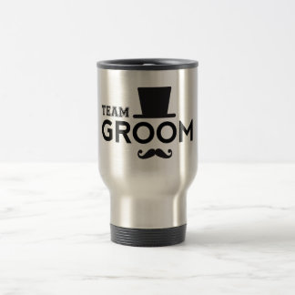 Team Groom with hat and mustache Mug