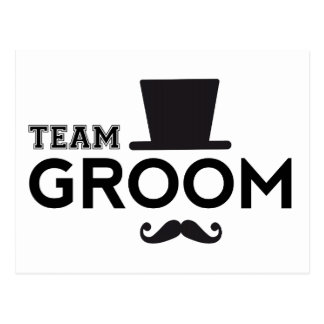 Team Groom with hat and mustache Postcard