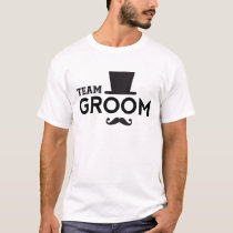 Team Groom with hat and mustache T-Shirt