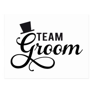 Team Groom with hat, text design for t-shirt Postcard