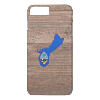 Team Guam Flag Map on Wood iPhone 7 Plus Case