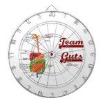 Team Guts (Digestive System Anatomical Humor) Dartboard With Darts