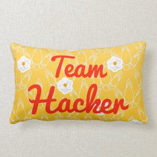 Team Hacker Throw Pillows