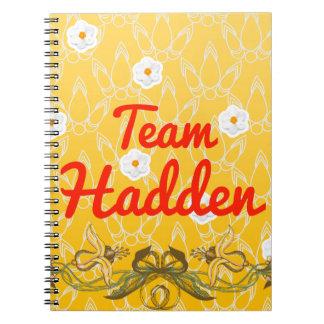 Team Hadden Notebook