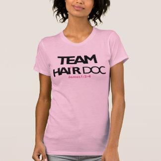 Team Hair Doc 911 (Racerback) Pink T-Shirt