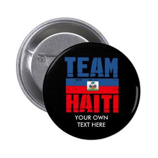 TEAM HAITI PINBACK BUTTON
