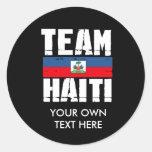 TEAM HAITI ROUND STICKERS
