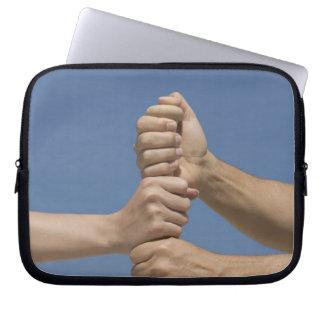 Team Hands on Bat Laptop Sleeves