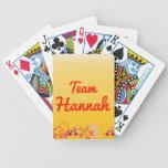 Team Hannah Bicycle Card Decks