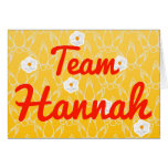 Team Hannah Card