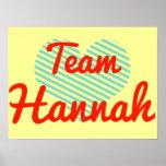 Team Hannah Poster