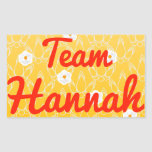 Team Hannah Rectangular Stickers