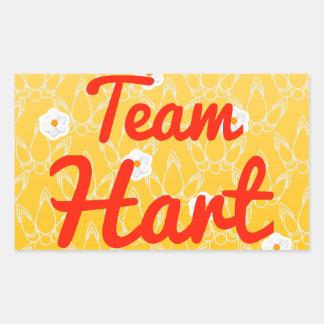 Team Hart Rectangular Sticker