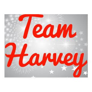 Team Harvey Postcard