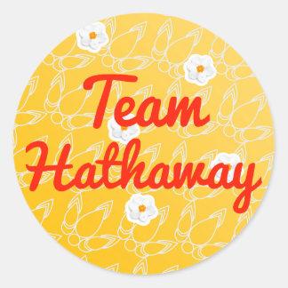 Team Hathaway Classic Round Sticker