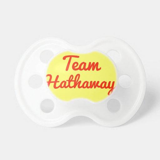 Team Hathaway Pacifiers