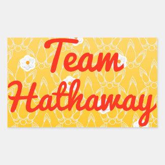 Team Hathaway Rectangular Sticker