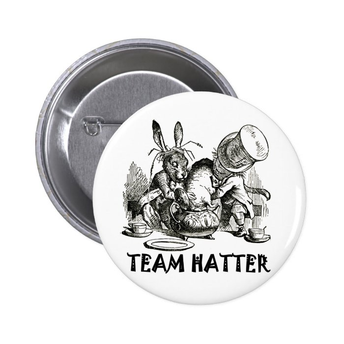 TEAM HATTER PINBACK BUTTON