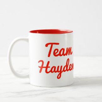 Team Hayden Two-Tone Coffee Mug