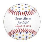 Team Hearts Personalized Newlywed Baseball