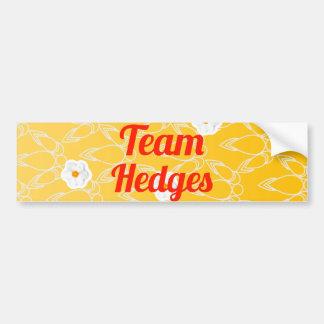 Team Hedges Car Bumper Sticker