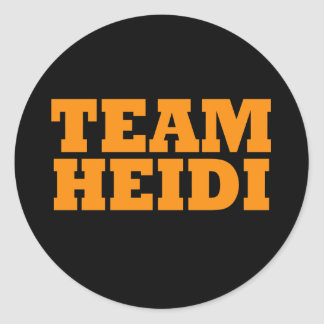 Team Heidi Classic Round Sticker