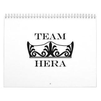 Team Hera-English Calendar