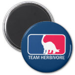 Team Herbivore Vegetarian Vegan 2 Inch Round Magnet