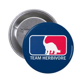 Team Herbivore Vegetarian Vegan Pinback Buttons