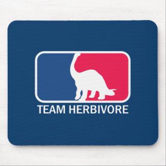 Team Herbivore Vegetarian Vegan Mouse Pad