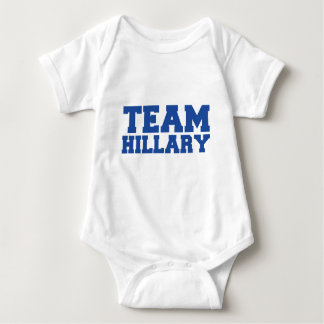 TEAM HILLARY CLINTON BLUE.png Baby Bodysuit
