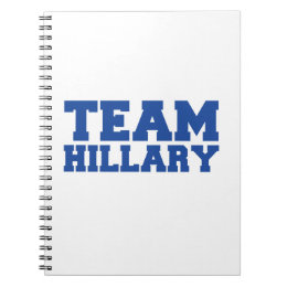 TEAM HILLARY CLINTON BLUE.png Notebook