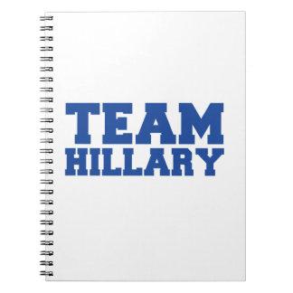 TEAM HILLARY CLINTON BLUE.png Spiral Notebook