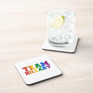 TEAM HILLARY PRIDE -.png Coasters