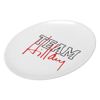 TEAM HILLARY WHITE DINNER PLATES