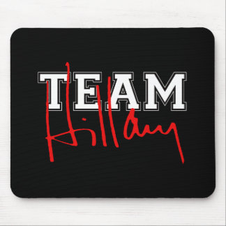 TEAM HILLARY WHITE.png Mouse Pad