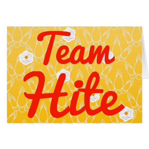 Team Hite Card