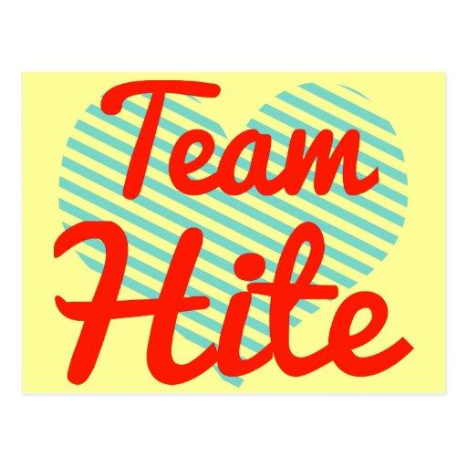 Team Hite Post Card
