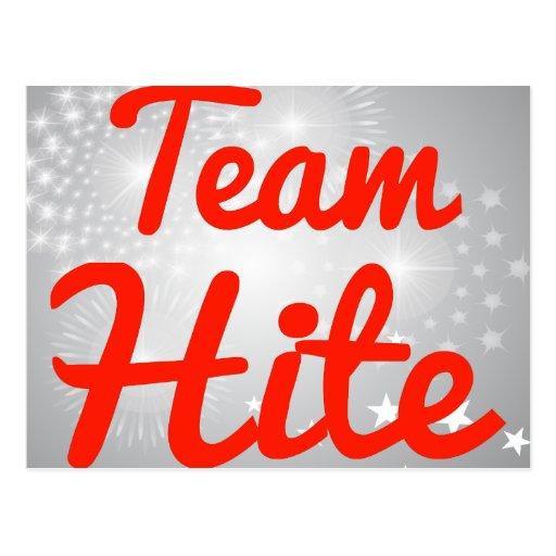 Team Hite Postcard