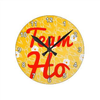 Team Ho Round Wall Clock