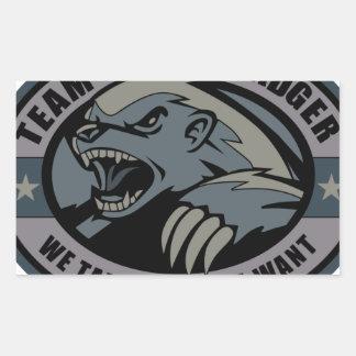 Team Honey Badger Rectangle Sticker