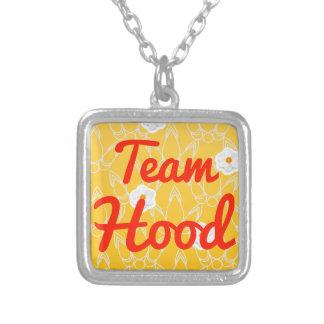 Team Hood Square Pendant Necklace