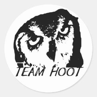 Team Hoot Classic Logo sticker! Classic Round Sticker