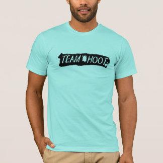 Team Hoot Swipe Black T-Shirt