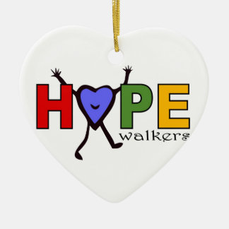 Team Hope Walkers for Walk Your A.S. Off Ceramic Ornament