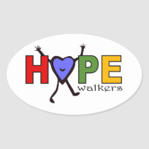 Team Hope Walkers for Walk Your A.S. Off Oval Sticker