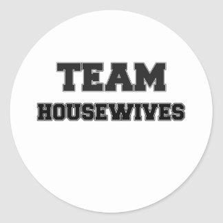 Team Housewives Round Stickers